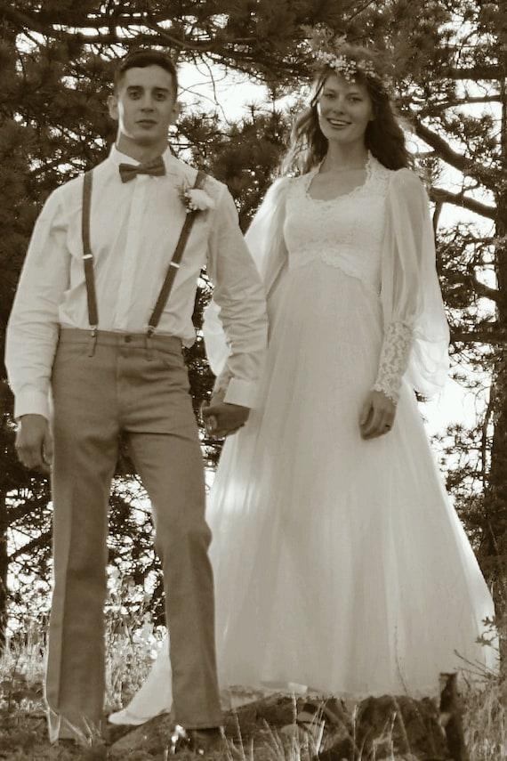 Vintage Flower Child Wedding Dress