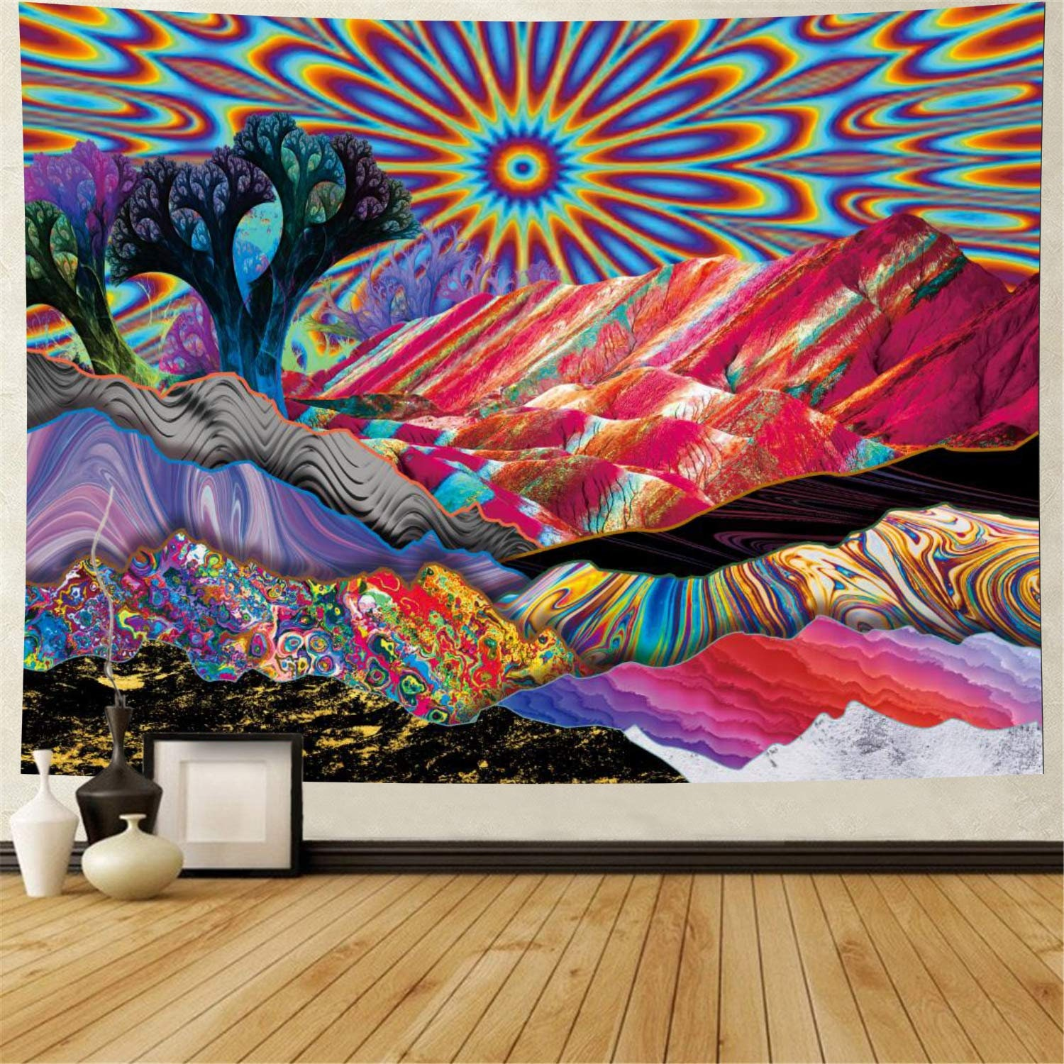 Painting Mountain Wall Hanging Tapestry Psychedelic Bedroom Home Decoration