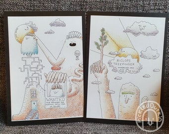 Set of 2 A5 Illustration Prints