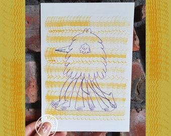 "A5 Illustration Print - ""Hemforth"""