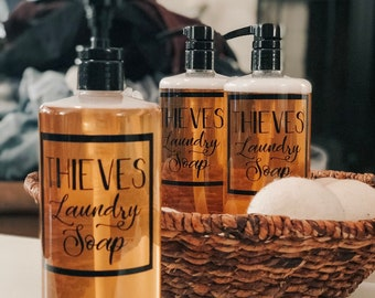 """Thieves Laundry Soap ~ 3 1/2"""" x 3 1/2"""" ~ Label Only"""