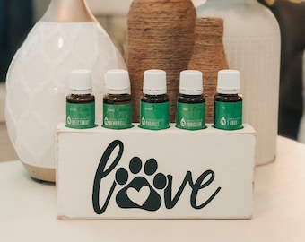 Love Paw Dog Animal Essential Oil Block ~ Oil Storage ~ Oil Shelf ~ 15ml ~ Young Living