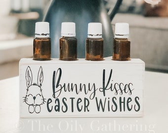 Bunny Kisses Easter Wishes ~ Essential Oil Block ~ Oil Storage ~ Oil Shelf ~  5ml to 15ml ~ Young Living ~ Easter