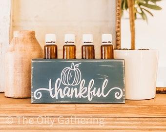 Thankful Pumpkin ~ Essential Oil Block ~ Oil Storage ~ Oil Shelf ~ 15ml or 5ml ~ Young Living ~ Doterra