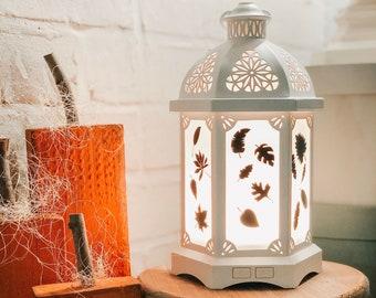 Lantern Diffuser set of 14 various Fall Leaves ~ Vinyl Decal