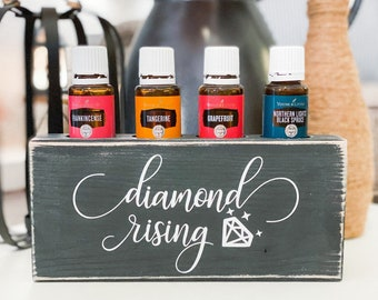 Diamond Rising ~ Essential Oil Block ~ Oil Storage ~ Oil Shelf ~ 15ml or 5ml ~ Young Living ~ Team gifts