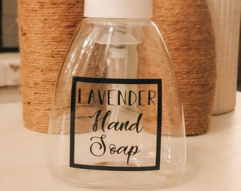 """Lavender Hand Soap ~ 2 1/4"""" x 2 1/4"""" ~ Label Only"""