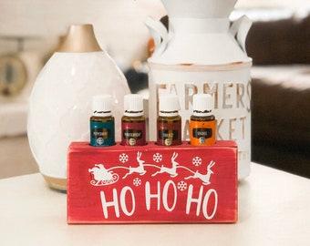 Ho Ho Ho ~ Santa ~ Essential Oil Block ~ Oil Storage ~ Oil Shelf ~ 15ml ~ Young Living ~ Christmas