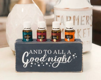 And to All a Good Night ~ Essential Oil Block ~ Oil Storage ~ Oil Shelf ~ 15ml ~ Young Living ~ Christmas