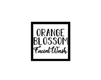 "Orange Blossom Facial Wash ~ 2 1/4"" x 2 1/4"" ~ Label Only"
