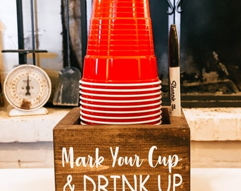 Party Cup Holder ~ Mark Your Cup & Drink Up