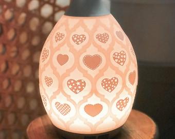 Set of 12 various Hearts for Desert Mist Diffuser or Lantern Diffuser ~ Vinyl Decal ~ Valentine's