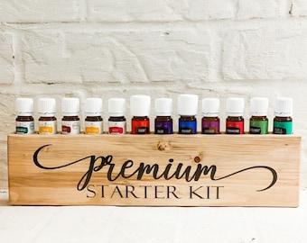 Premium Starter Kit Essential Oil Block ~ Driftwood ~ Oil Storage ~ Oil Shelf ~ 5ml ~ Young Living
