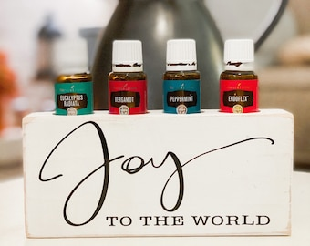 Joy to the World ~ Essential Oil Block ~ Oil Storage ~ Oil Shelf ~ 15ml ~ Young Living ~ Christmas