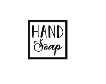 """Hand Soap ~ 2 1/4"""" x 2 1/4"""" ~ Label Only"""