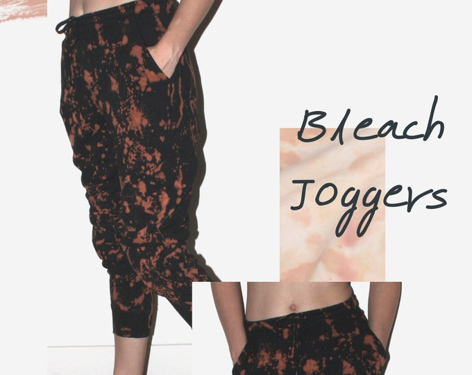 Featured listing image: Bleach Dyed/Reverse Tie Dye Joggers  - Multiple Sizes