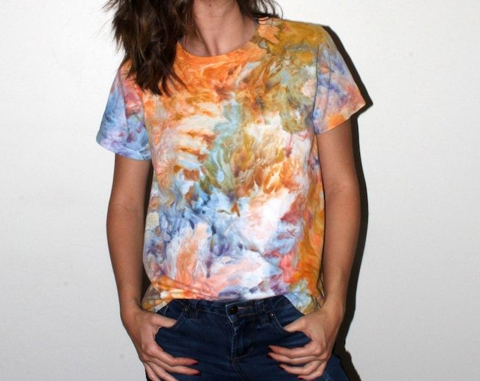 Featured listing image: Tie Dye Short Sleeve - Tie Dye Yellow & Blue - Adult M
