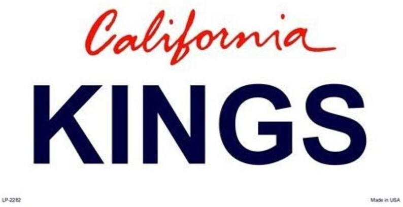 KINGS California State Background Metal License Plate
