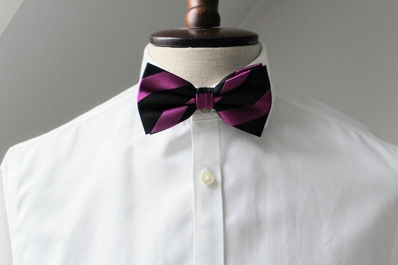 Boss Gifts - Fashion- Trendy Fuschia and Blue Pink and Blue -Gifts- Gift Ideas Bow Brooch Tie