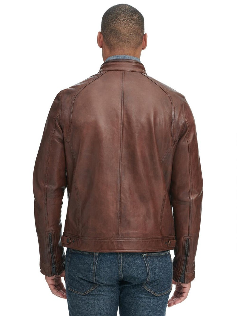 Guaranteed delivery within 4 working  days after dispatch Designer genuine  leather  Handmade Man Leather Jacket