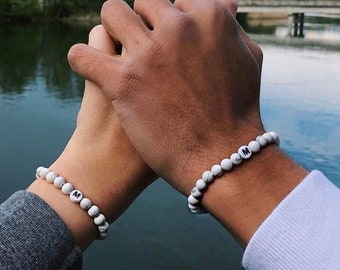 Partner bracelets, Personalized Bracelet, Love Bracelets With Pearls, Individual Jewelry For Men and Women