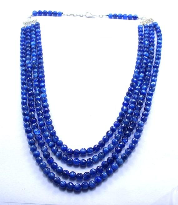 "6mm Natural Labradorite Gemstone Round Smooth Beads Necklace 18""925 Silver Clasp"