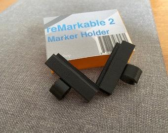 Pen holder for reMarkable 2 Marker (fits Plus and STAEDTLER Jumbo) (2-pc set)