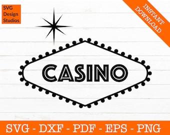 Las Vegas Casino Sign Svg, Welcome Svg, Las Vegas Svg, Casino Svg, Gambling Silhouette SVG Cut File - png, eps, dxf, pdf, eps Vector Clipart