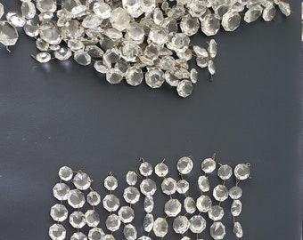 5 Metallic Fuchsia Pink 18mm Heart Chandelier Crystals Prisms Shabby Chic