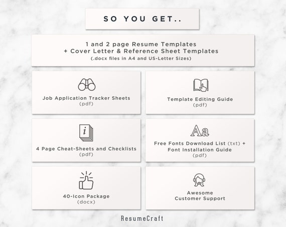 Professional Reference Sheet Template from i.etsystatic.com