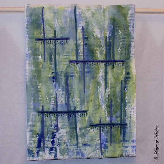 "Bluegreen Window 23"" x 33"""