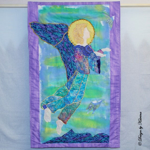 "Angel with Bird  44"" x 24"""