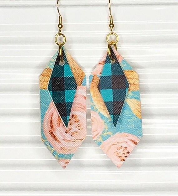 leatherette earrings