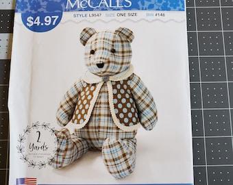 Used pattern McCall L9547 Memory Bear