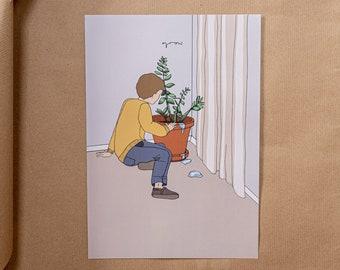 Grow digitaler Print, A4, minimalistisch, tiefsinnig, Poster, Geschenk, Geburtstag, Wanddeko, Weihnachtsgeschenk
