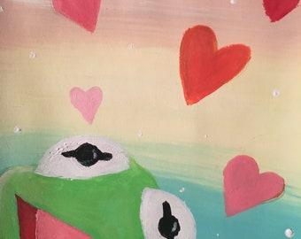 Download Kermit Heart Meme Outline Png Gif Base