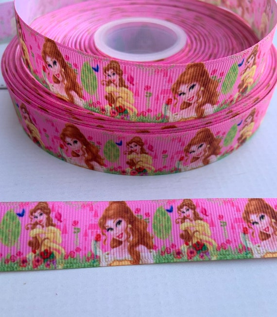 """By The Yard 1/""""  Beauty and the Beast inspired Grosgrain Ribbon USA Seller"""