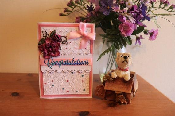 Handmade Congratulations Card, Well Done Card, Greetings Card, Graduation Card, Exam Card, New House Card, New Job Card