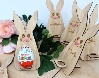 Wooden Easter egg holders choose from bunny rabbit dinosour unicorn etc craft