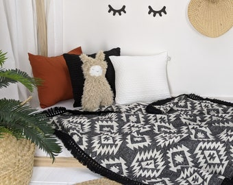 Cover Collection Black and White Boho Aztec Pattern for Children