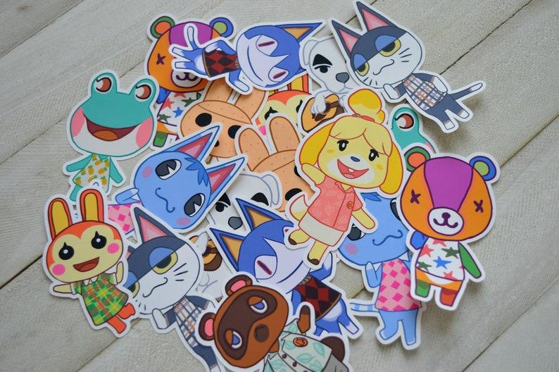 Animal Crossing Themed Villager Die-Cut VINYL Stickers LAST image 0