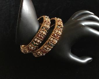 Silver Rhinestone 7 Spiral Party Upper Arm Band bangle Crystal Bracelet 1129
