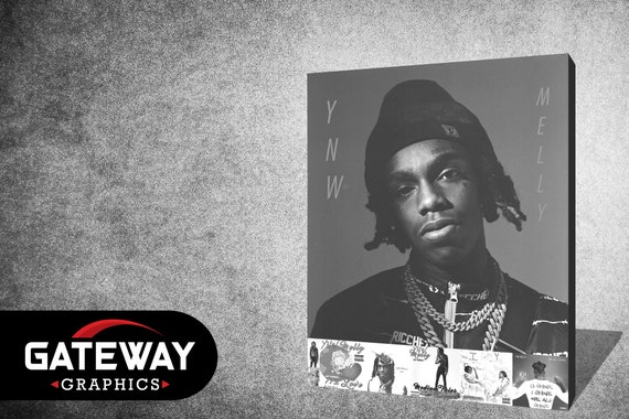 "YNW Melly Melly Vs Melvin Cover Poster 2019 New Album Art Print 24×24/"" 32×32/"""