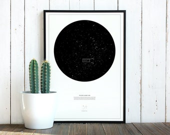The Sun's nearest star, Proxima Centauri astronomy poster -  unframed
