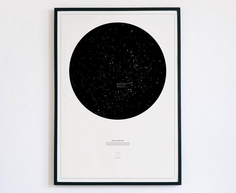 Proxima Centauri astronomy poster unframed The Sun/'s nearest star
