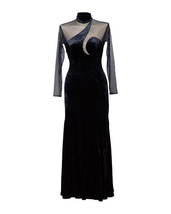 Vintage 1950s Tea Length Dress with Peek-a-Boo cut-outs!