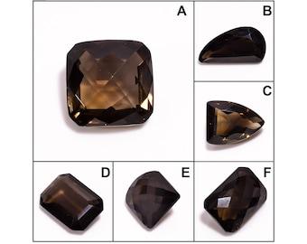 Smoky Quartz Faceted Loose Gemstone | Smoky Quartz Handmade Polished Loose Gemstone | Semi Precious Loose Gemstone | Factory Price
