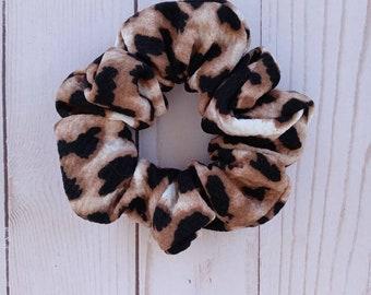 Brown-Tan-Leopard-Gold-Black 4 Boho Hair Ties Bridesmaid Gift Hair Tie Favor Leopard Theme Hair Tie Set Neutral Colors Hair Tie Set