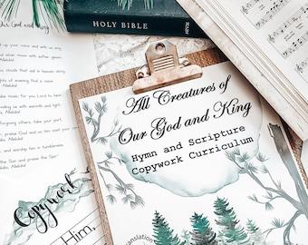 Bible Verses for Kids, Handwriting for Kids, Handwriting Kids, Handwriting Practice, Scripture for Kids, Scripture Memory Verse, hymn study