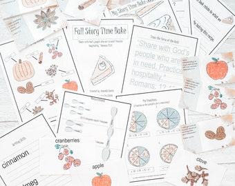 Fall Homeschool Printable , Fall Activities for Kids , Pumpkin Study , Homeschool Math , Scripture Cards for Kids , Preschool Activities